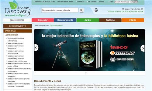 Dream Discovery, tu tienda de ciencia
