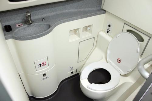 Cómo funciona el baño de un avión