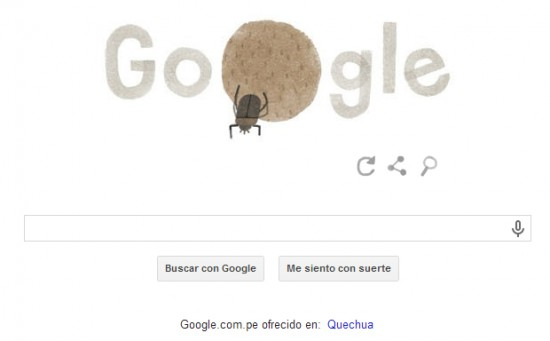 Escarabajo pelotero Doodle